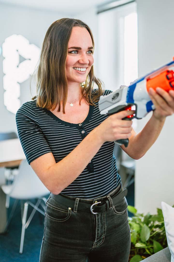 Portrait einer Mitarbeiterin