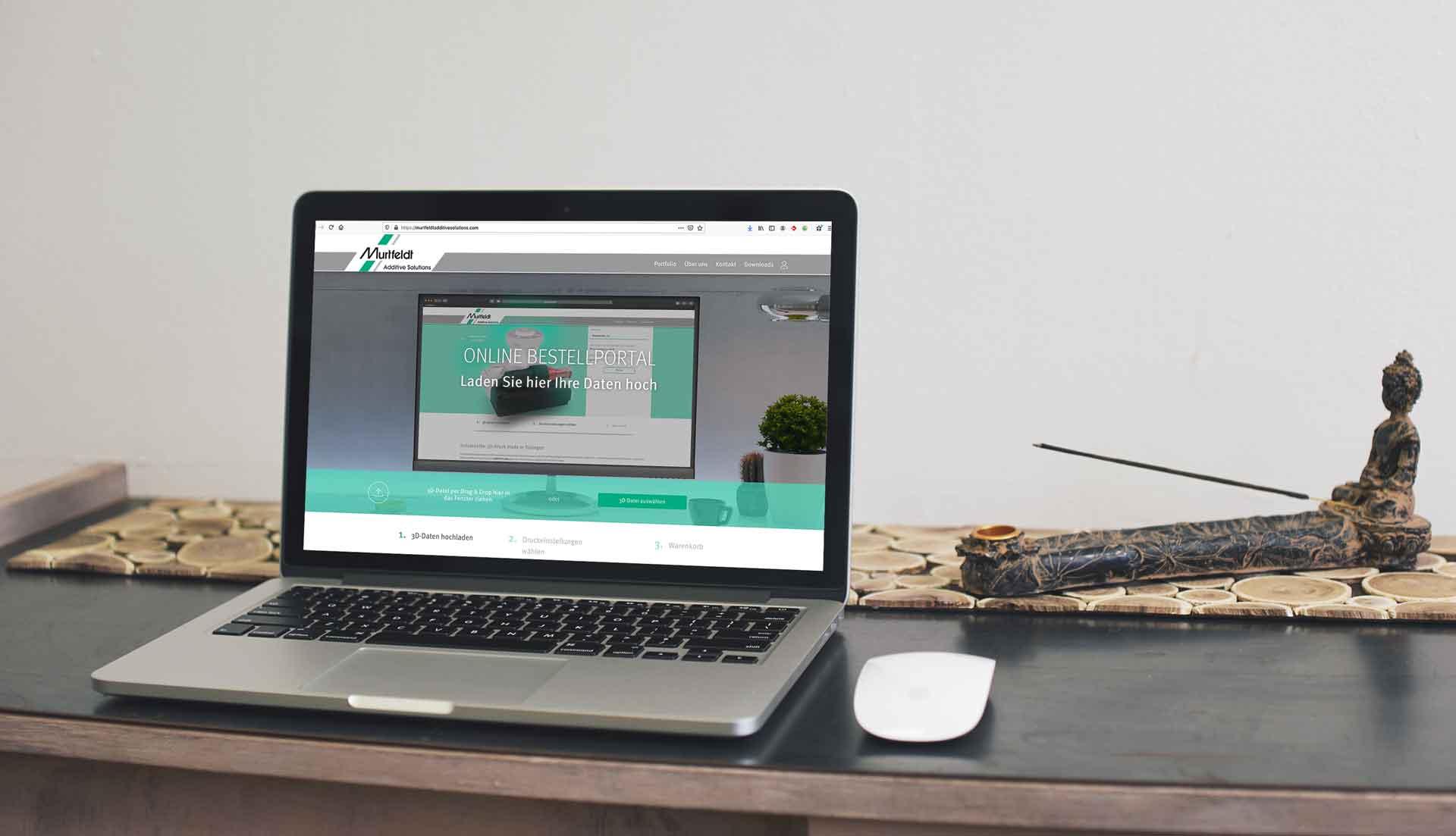 Darstellung einer Referenz in einem Laptop