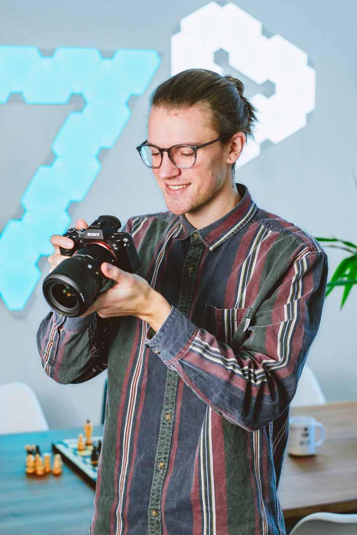 Portrait eines Mitarbeiters