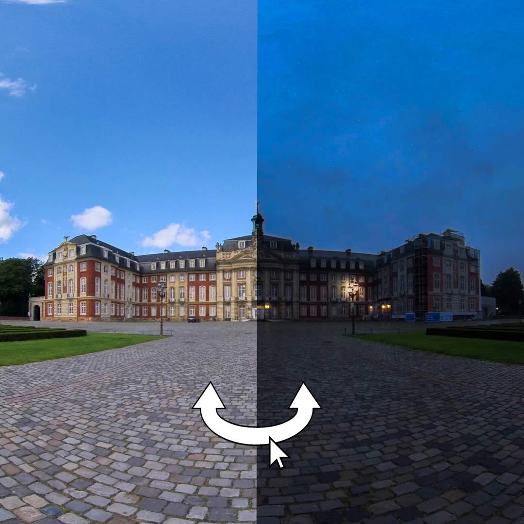Blick auf das Schloss in Münster
