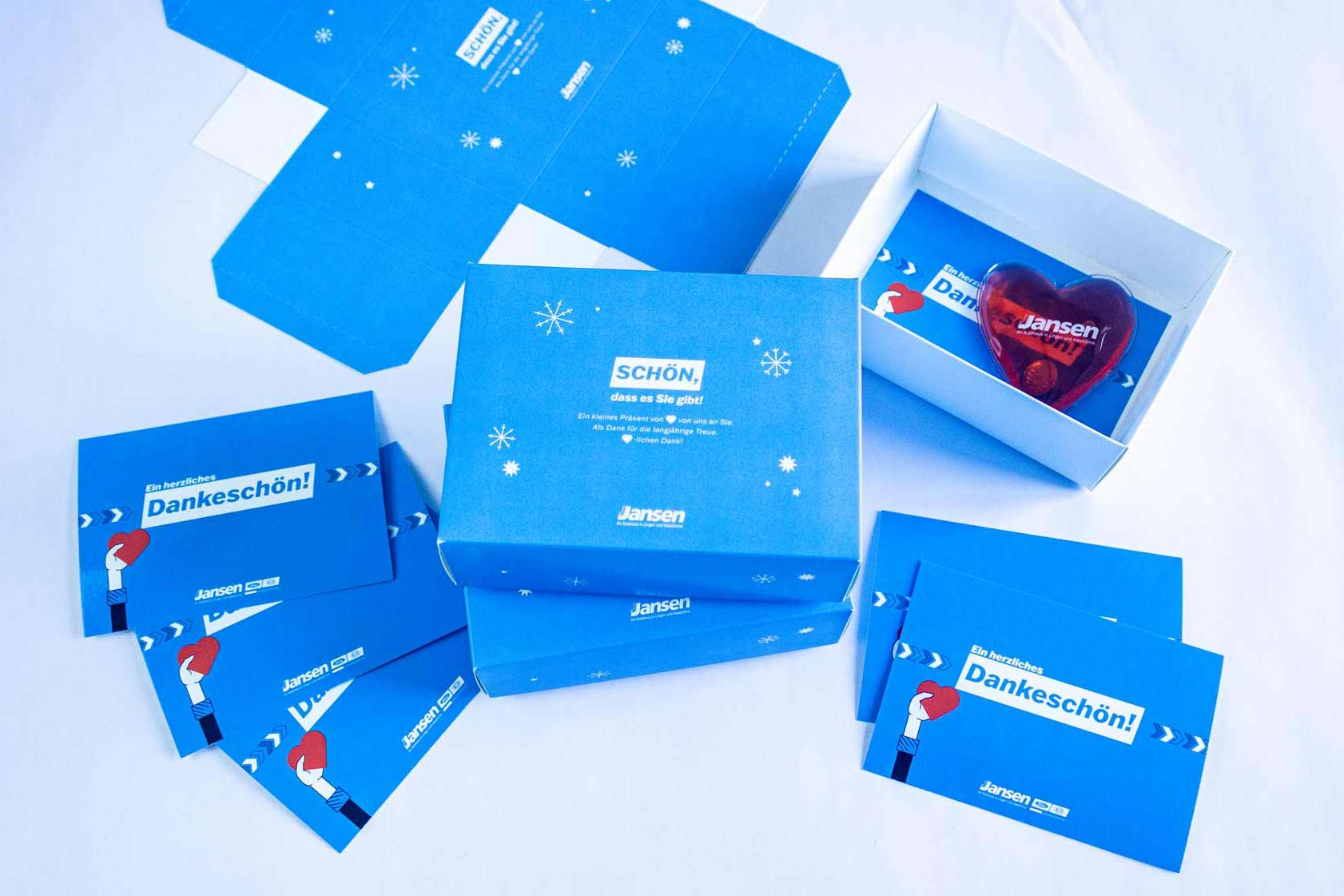 Darstellung der Geschenkboxen