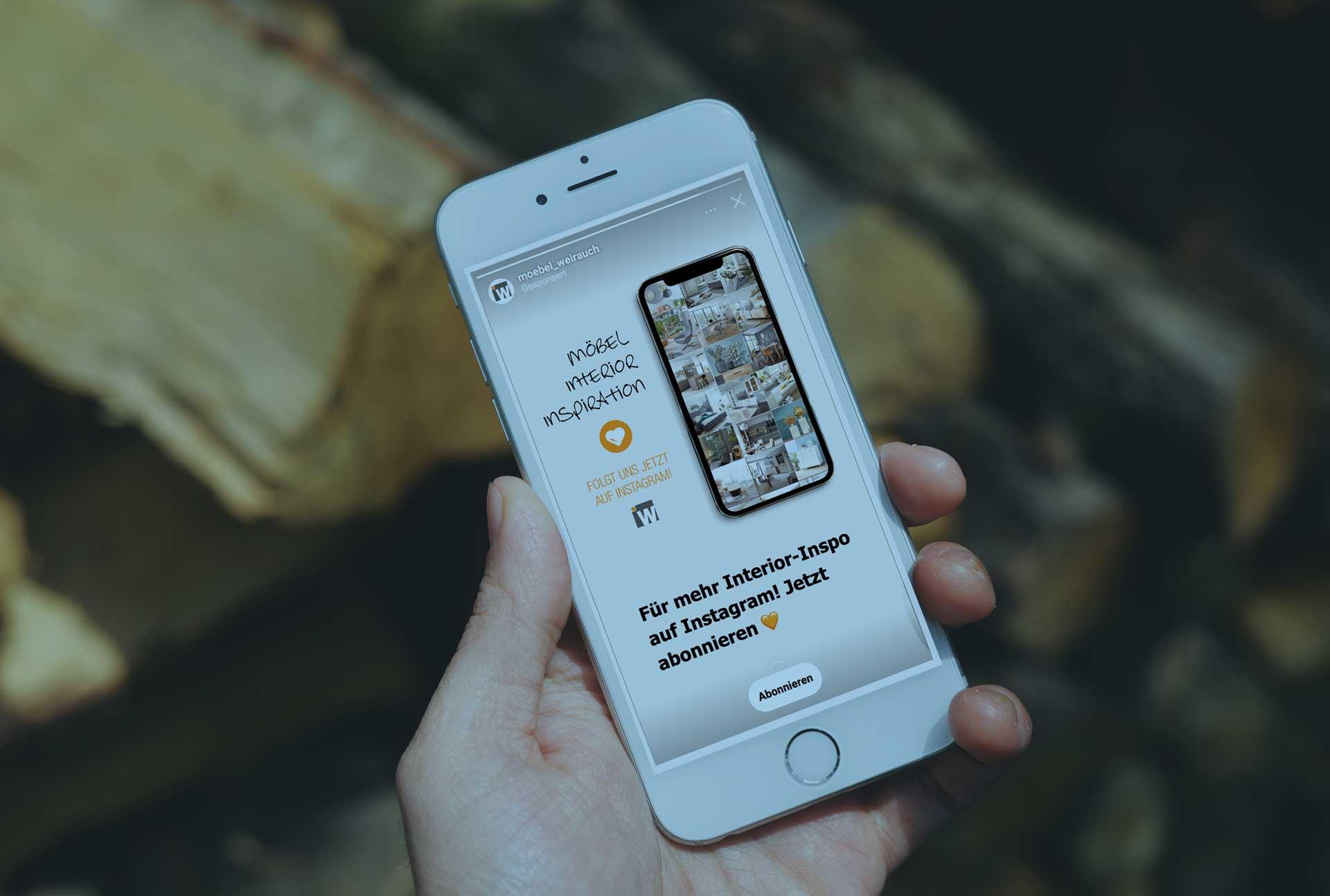 Referenz Weirauch wird auf einem Mobilgerät dargestellt.